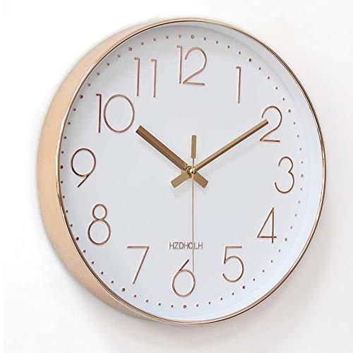 掛け時計 電波時計 おしゃれ 北欧 連続秒針 静音 壁掛け時計 自動受信 シンプル リッピング 掛時計 自宅 寝室 部屋飾り 贈り物 インテリア 大数字 見やすい 30cm (電波・ホワイト)