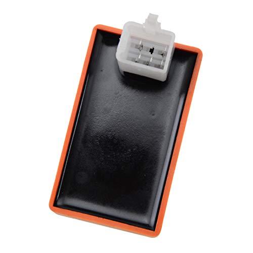 GOOFIT Arancione Cdi Modificata Ca Di 5 Pin Per 50cc 125cc Orizzontale Motore Fuoristrada Carrello Atv