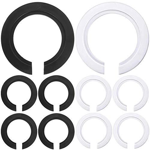 10 Pack E27 bis E14 Kunststoff Lampenschirm Ring Konverter, Lampenring ReduzierstüCk Adapter Unterlegscheibe FüR Sockelschraubenbirnen Bajonettkappen-Lampenfassungen