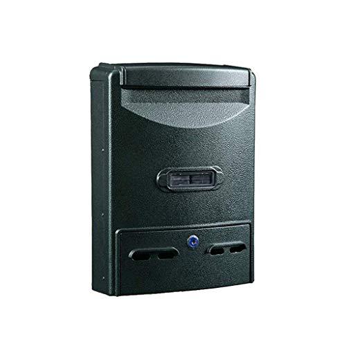 ZXPzZ-Sicherheitsbriefkästen Briefkasten - Vintage-Briefkasten aus Gusseisen - wetterfester Hochleistungsbriefkasten , Abschließbare Wandmontage (Color : C)