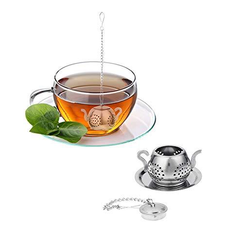 Gaddrt - Infusor de té de acero inoxidable, diseño de tuberías