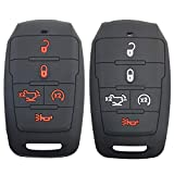 2Pcs Coolbestda Compatible with 2021 2020 2019 Dodge Ram 1500 5buttons Rubber Key Fob Case Pouch Protector Holder Remote Keyless Entry Bag 68291690