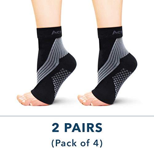 ActivSocks Knöchelbandage, Fußbandage, 1 PAAR, Kompressionssocken bei Achillessehnenentzündung, Plantarfasziitis, Fuß & Fersenschmerzen - Verbesserte Durchblutung für Jogging, Crossfit, Ausdauersport