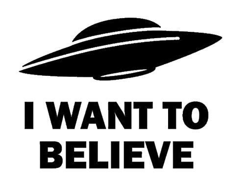 I Want To Believe Black Decal Vinyl Sticker|Cars Trucks Vans Walls Laptop| Black |5.5 x 4 in|LLI549