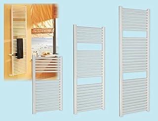 BRIXO Radiador toallero Recto de Acero Blanco 50 x h 150 cm. Distancia Entre Ejes: 45 cm.