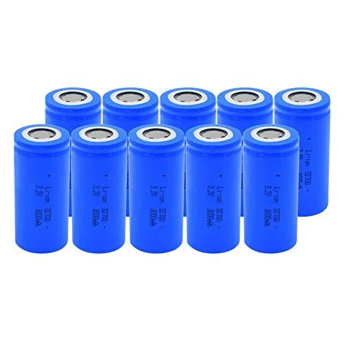 hsvgjsfa Batería De Iones De Litio De 3.2v 32700 8000mah, Equipo De Energía Solar Recargable, CéLulas De Repuesto para Scooter EstéReo 10Pieces