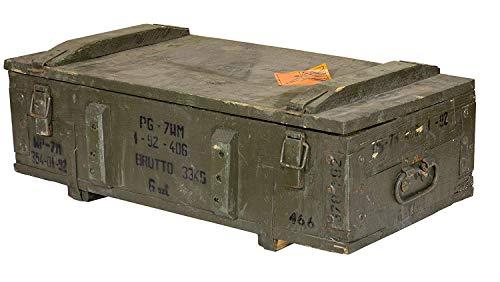 Historische große Munitionskiste - alte gebrauchte Originale Holztruhe Munikiste Transportkiste Patronenkast Sitzbank Wäschetruhe Couchtisch antik 80x38x17cm