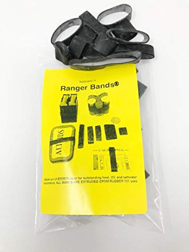 Ranger Bands Mixed 35 Count Made from EPDM Rubber for Survival, Emergency Tinder and Strapping Gear of Various Sizes Made in the USA NGE61972