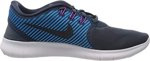 Nike Women's Free Rn Cmtr Squadron Blue/Dark Obsidian Ankle-High Running Shoe - 9.5M