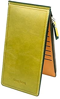 Noedy Womens Multi Card Case Money Organizer Wallet with Zipper Pocket