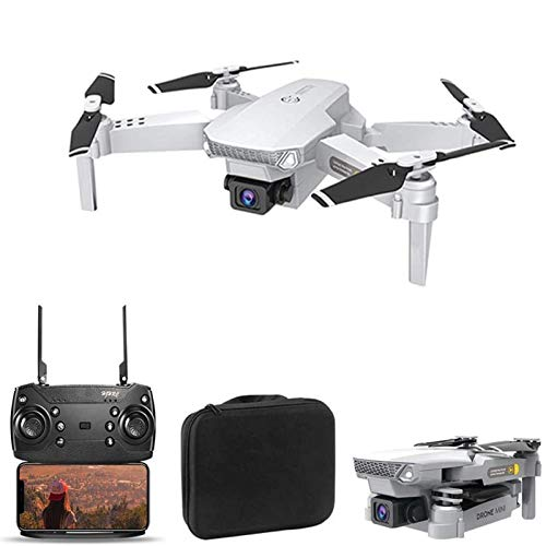 Special-U HJ15 Mini WiFi RC Drone - One Button Take Off/Landing, Foldable Gimbal Quadcopter with 4K HD Camera Multifunctional APP Control RC Toys for Adults Beginner, Gray White