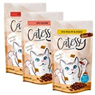 Catessy Crunchy Snacks mix pack 3 x 65g (Beef and Malt, Salmon, Poultry and Cheese)