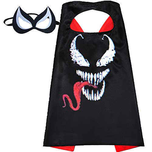 Aodai Halloween Costumes and Dress up for kids - Venom Costume Cape and Mask