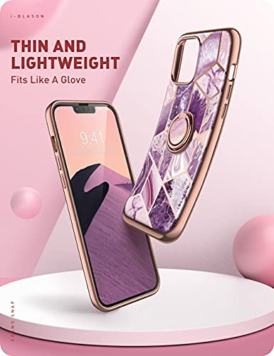 i-Blason Cosmo Snap Case Designed for iPhone 13 Pro 6.1 inch (2021 Release), Slim with Built-in 360° Rotatable Ring Holder Kickstand Supports Car Mount - Ameth