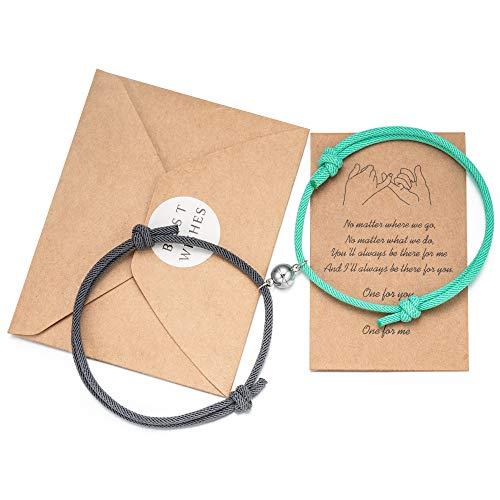Tarsus Couples Magnetic Bracelets Forever Matching Friendship Promise Bracelet Him Her Couple Jewelry Gifts for Boyfriend Girlfriend Women Men Best Friend Bf Gf