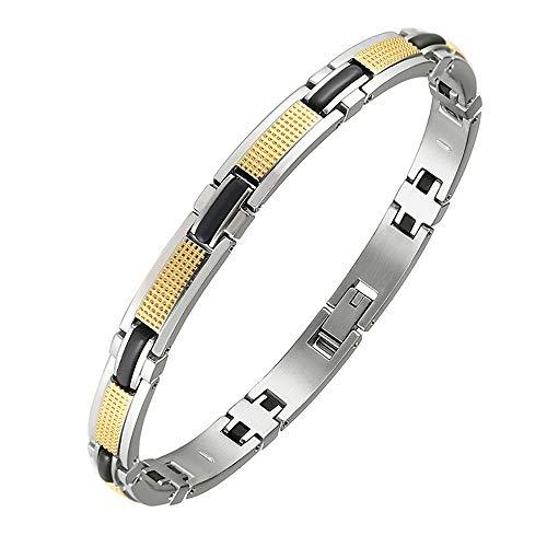 Magnetische therapie-armband voor dames, van titaniumstaal, voor gezondheidszorg, van roestvrij staal, ter vermindering van stress voor mannen.