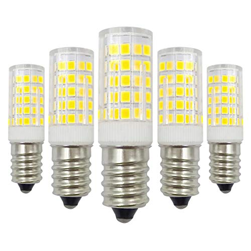 E14 LED Kaltweiß 12V Glühbirne 4W Ersatz 40W Halogen Birnen 6000K Nicht Dimmbar Niedervolt Kandelaber Lampen - 5 Pack [MEHRWEG]