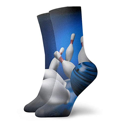 Socken Bowling Play Damen & Herren Socken Fußball Socken Sport Tube Strümpfe Länge 30 cm
