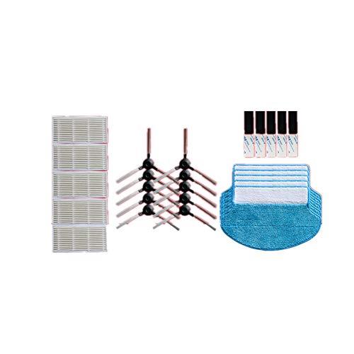 Meijunter Trousse de Nettoyage Kit pour Proscenic Blue Sky S/Swan - Aspirateur 5 Pièces Filet de Filtre+Brosse Latérale+Vadrouille Pad Nettoyage Set