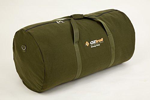 OZtrail Borsa di tela resistente, forma cilindrica, 50 x 36 cm, con due manici per Volkswagen australiani individuali – Biker Swag Canvas Bag