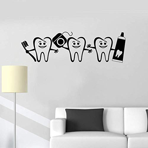 Dental tandpasta muurstickers badkamer decoratie gezondheid wandsticker tandarts logo deur raam sticker kamer wandsticker 57X17 cm
