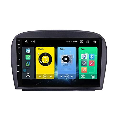 Android 10.0 Car Stereo 2 DIN Radio para Mercedes Benz R230 SL SL500 2013-2018 Navegación GPS 9 '' Unidad Principal Reproductor Multimedia MP5 Receptor de Video con 4G / 5G WiFi Carplay