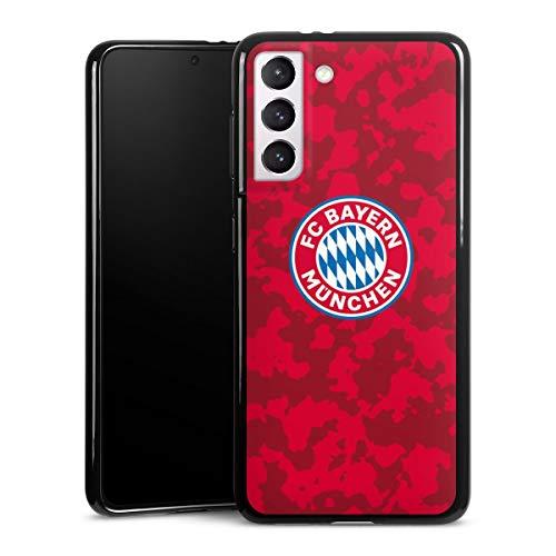 DeinDesign Silikon Hülle kompatibel mit Samsung Galaxy S21 5G Hülle schwarz Handyhülle FC Bayern München Camouflage FCB