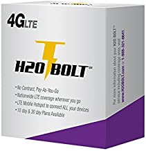 h2o Bolt 4G LTE Mobile Wi-Fi Hotspot with Pre-Loaded 10 GB of 4G LTE Data