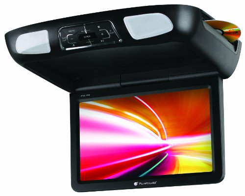Planet Audio P11.2ES Car Roof-Mount Monitor and DVD Player – 11.2 Inch LCD, Widescreen, Flip-Down, FM Transmitter, IR Transmitter, Speakers, Dome Light, Interchangeable Black/Gray/Tan Housings