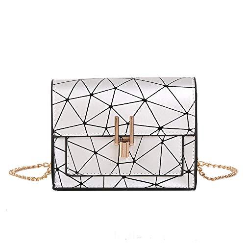 EDCR Women Shoulder Bags of the Messenger bag handbag chain wild crack printing wild shoulder bag-Silver