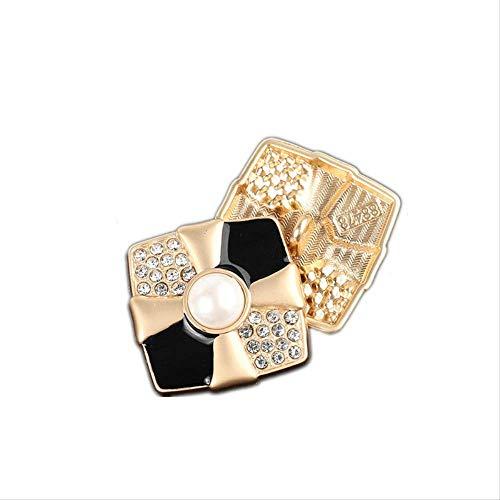 Metalen knop mannen en vrouwen pak trui jas decoratie ronde vorm gesp [Diameter 30MM] 5 pieces 16# style