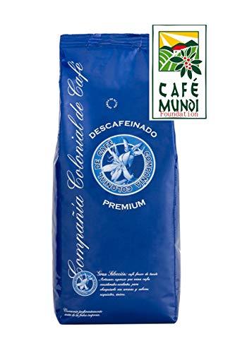 Cafe Descafeinado en Grano 1kg Natural 100% - Café Espresso con un sabor Intenso de Origen Mezcla Colombia y Brasil – Comercio Justo.