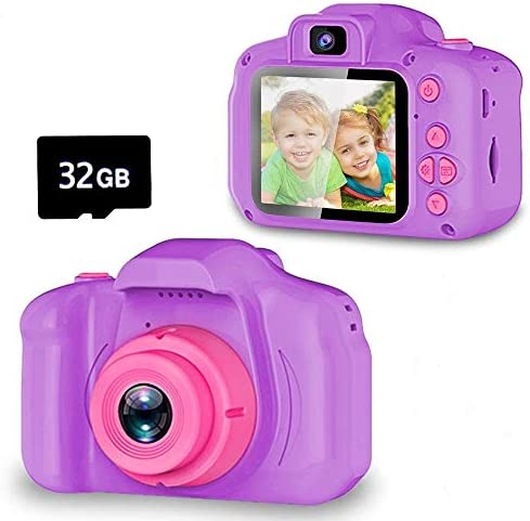 Seckton Upgrade Kids Selfie Camera Christmas Birthday Gifts for Girls Age 3 9 HD Digital Video product image