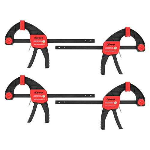 XINQIAO Quick-Grip Bar Clamps Set, Wood Clamps (6Inch-4 Pack)