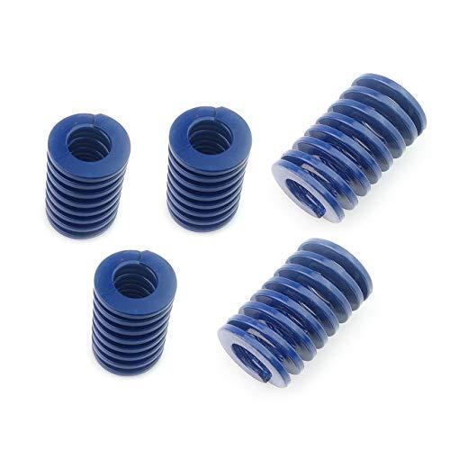 Muelles para impresora 3D de carga ligera de compresión, muelle, diámetro exterior de 20 mm de largo, 25 mm, para muelles de cama de calefacción de compresión (5 unidades)
