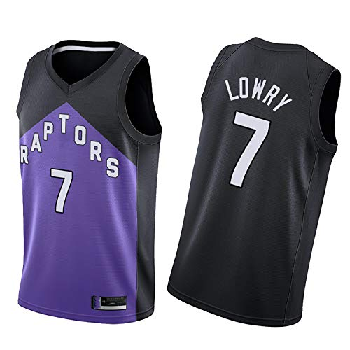 DSASAD Raptors de los Hombres Jersey de Baloncesto 7# Lowry 43# Siakam 23# Vanvleet 3# ANUNOBY 46# Baynes Baloncesto sin Mangas Chaleco Camiseta, Secado rápido y Trans NO.7-XL