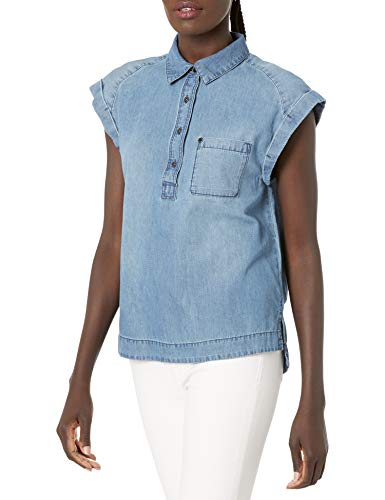 Armani Exchange Cap Sleeve Blouse Blusa para Mujer