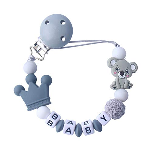 Kind Baby Schnuller Kette Beruhigende Jungen Mädchen Cute Koala Bär Bunte Design Kinder Spielzeug