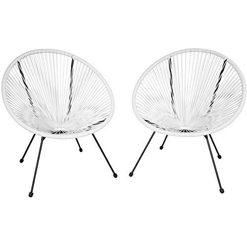 TecTake 800729 2er Set Acapulco Garten Stuhl, Lounge Sessel im Retro Design, Indoor und Outdoor,...