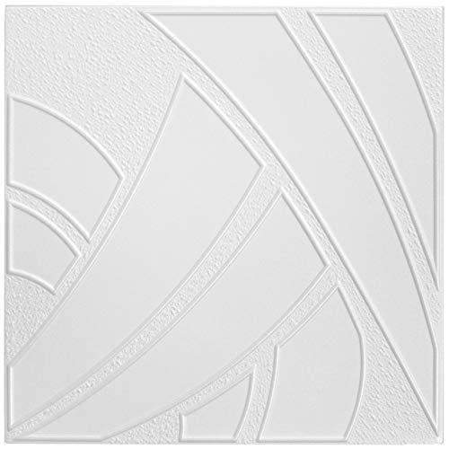 10 qm | Deckenplatten | XPS | formfest | Hexim | 50x50cm | NR.43
