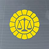 Japanese Defense Attorney Badge Ace Judgment Gaming Vinyl Decal (Canary Yellow)