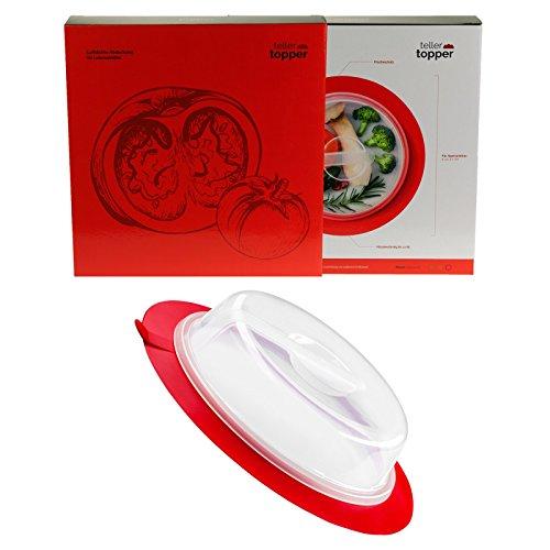 TellerTopper luftdichte Abdeckhaube für Lebensmittel | BPA & Schadstofffrei | Mikrowellen & Spülmaschinen geeignet