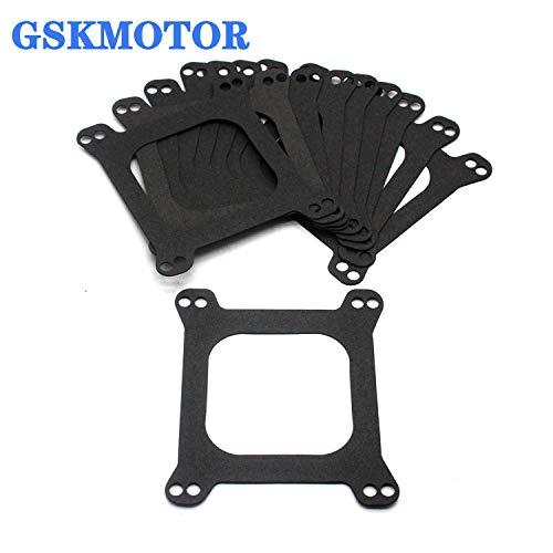 GSKMOTOR Holley Carburetor Base Gaskets (10 pcs) Carburetor Mounting Gasket