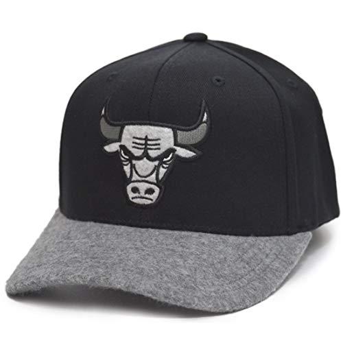 Mitchell & Ness NBA Greytone 110 Snapback Chicago Bulls - Gorra de forro polar, color negro y gris
