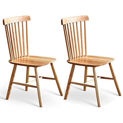 HOMRanger Juego de 2 sillas Windsor, sillas de Madera Country, Comedor Vintage sin Brazos, taburetes
