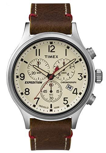 Timex Herren Chronograph Quarz Uhr mit Leder Armband TW4B04300