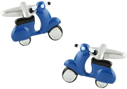masgemelos Manschettenknöpfe Moto Scooter Marineblau Cufflinks