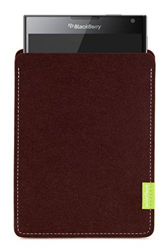 WildTech Sleeve für BlackBerry Passport Hülle Tasche - 17 Farben (Handmade in Germany) - Dunkelbraun
