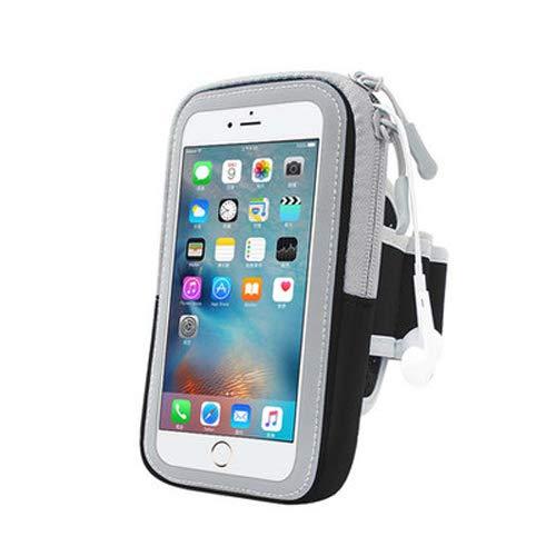 Sportarmband für Samsung Galaxy S10+ / A7 / S7 / S6 Edge+ / Motorola G5 Plus/Moto Z3 / Z3 Play / G6 Play / E5 Play/OnePlus 6 / Huawei P20 Pro, M, schwarz