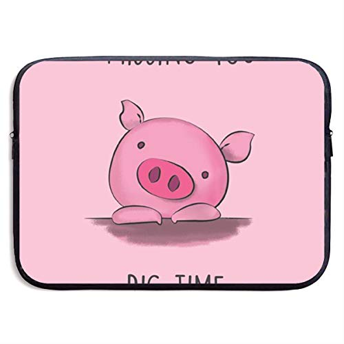 VEGAS So Cute Pig Laptop Sleeve Case Bag Handbag for MacBook/Notebook/Ultrabook - Lightweight Carring Protector for 13 Inch Samsung Sony ASUS Acer Lenovo Dell HP Toshiba Chromebook Computers